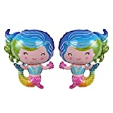 Hivexagon Mermaid Foil Balloons para la Boda de cumpleaños de Navidad Fiesta de Negocios decoración 2 unids / Set HP040