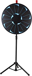 "WinSpin 24"" Editable Prize Wheel of Fortune 18 Slot Floor Stand Tripod Spinning Game Tradeshow Carnival"