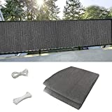 99native@ Balcony privacy screen grey  Balcony Privacy Screen Oxford Fabric Screening Privacy Protector without Screws Sunshade UVprotection Weather Resistant Fence Cover Cable Ties Attached