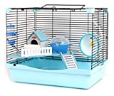 Habitat for Small Animals Hamster Hideout Hamster Cage Hamster Cage Blue Transparent Hamster Villa Cage Portable Carrying Cage Castle Hamster Nest Breeding Cage Pet Supplies Natural Funny Nest Toy WAN