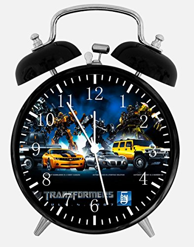 """Transformers Twin Bells Alarm Desk Clock 4"""" Home Office Decor W220 Nice for Gifts"""