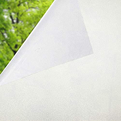 N.A. Fensterfolie ohne Klebstoff, statisch haftend, Milchglasfolie, Fensteraufkleber, Türabdeckung, 60 x 200 cm