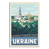 Vintage-Reise-Poster, Ukraine, Leinwand, Kunstdruck, Bild,