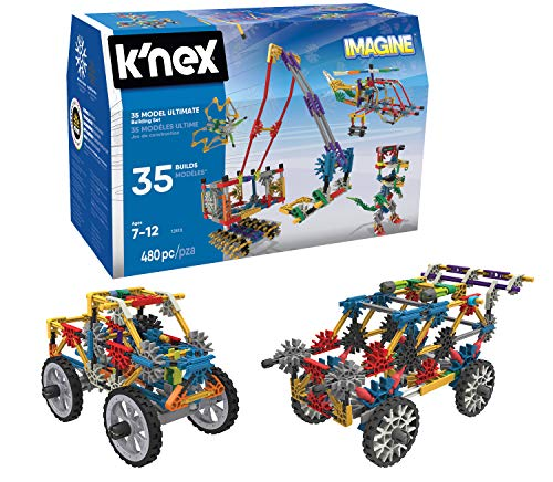 K'NEX Imagine 35 Model Building Set for Ages 7+, Construction Education Toy, 480 Pieces