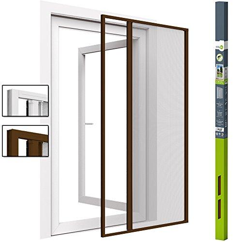 easy life Insektenschutz-Rollo für Türen 160 x 220 cm Schiebetür in Braun Fliegengitter-Rollo Alu + Fiberglas kürzbar