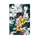 Anmie - Póster de lienzo con texto en inglés 'No GAME NO LIFE Sora 4' para decoración de sala de estar, dormitorio, 40 x 60 cm