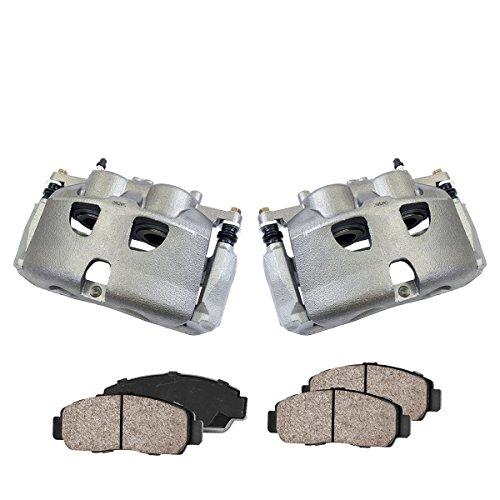 Callahan CCK02783 [2] FRONT Premium Loaded OE Caliper Assembly Set + [4] Quiet Low Dust Ceramic Brake Pads