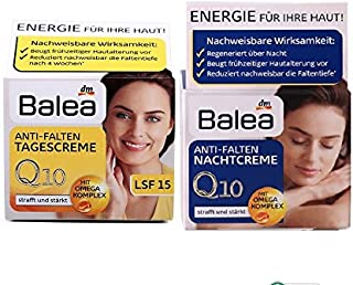 Balea Q10 Anti-wrinkle Day Cream+Night Cream VitaminE Cream Reduce wrinkles fine lines SkinCare regeneration cream Vegan