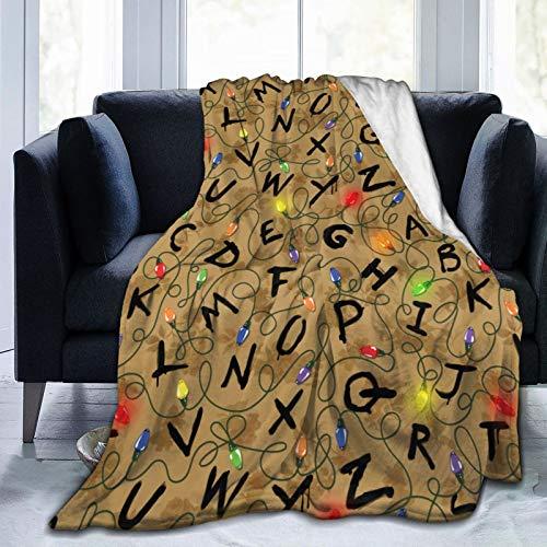 Manta cómoda de franela de forro polar para todas las estaciones, elegantes mantas de viaje de oficina, cosas extrañas, 106 x 127 cm