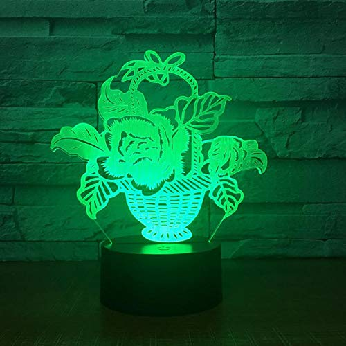 Wholesale Creative Desktop 3d Night Lamp Gift Customized Usb Plug in 3d Light Touch Remote Control Bedside Baby Lamp
