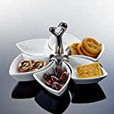 MALACASA, Serie Ramekin.Dish, 6/12 tlg. Porzellan Mini Muffin Backförmchen Kuchenform Souffléförmchen (Set- 6 tlg. 24 x 22 x 21 cm)