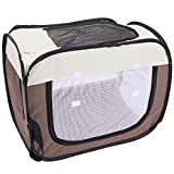 Domaker Pet Drying Box,Portable Pet Dryer Cage Foldable Puppy Hair Drying Box Hands-Free Doggy Grooming Hair Clearing Travel Bags for Dogs Cats Rabbit, 27.6'×19.7'×23.6'