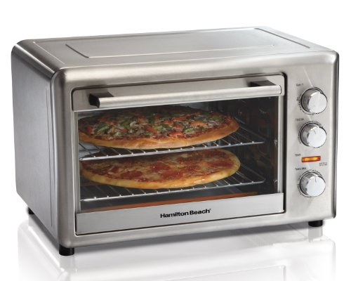 Hamilton Beach 31103A Countertop Oven with Convection and Rotisserie, Metallic (Discontinued)