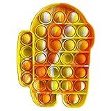 Garlic Press Push Pop Bubble Sensory Fidget Toy Pincez sensorielle Jouet Pousser Silicone Anti-Stress Jouets de Soulagement de L'anxiété Educatifs Autisme Besoins Spéciaux pour Enfants Adult…