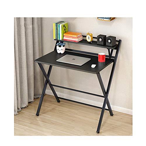 Escritorio de escritorio moderno y simple Mesa de estudio de estilo industrial Mesa plegable para computadora portátil para oficina, conveniente para la vida de su hogar,Negro