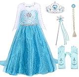 AmzBarley Disfraz Niña Princesa Reina de Nieve Elsa Vestido Niña Fiesta Capa...