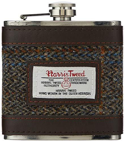 British Bag Company Carloway Harris Tweed Hip Flask Bruin