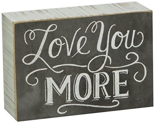 Primitives by Kathy 22283 Chalk Box Sign, 5' x 3.5', Love You More