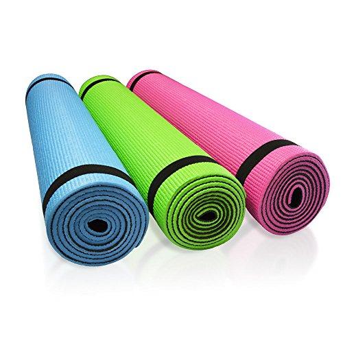 Per bambini 2-colorate PVC tappetino da Yoga Pilates ginnastica tappetino antiscivolo con tracolla