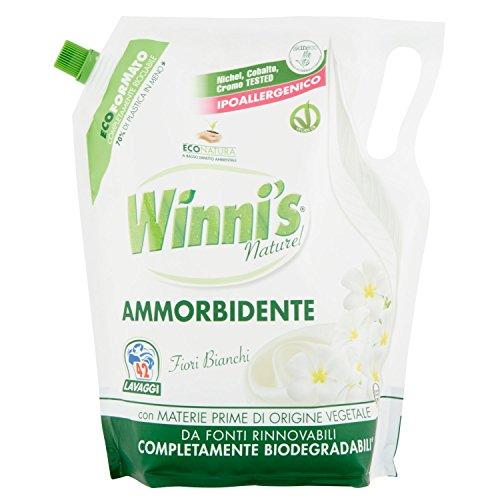 Winni's - Ammorbidente Ipoallergenico, Profumo Fiori Bianchi - 4 buste da 1470 ml [5880 ml]