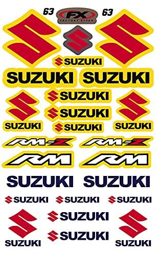 Kit Pegatinas ADESIVI Compatible para Suzuki RM RMZ PATROCINADOR Cross Enduro Casco (63)
