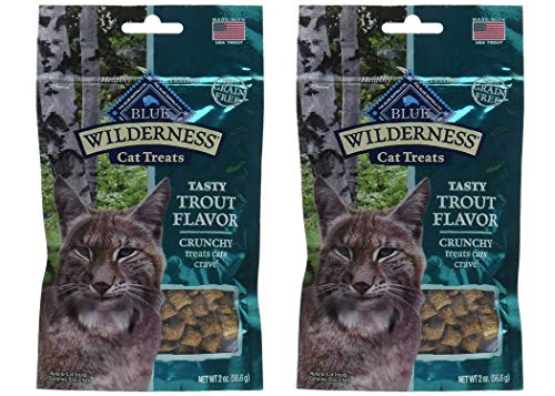 Blue Buffalo Wilderness Crunchy Trout Flavor Cat Treats (2 Pack)
