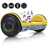 """YHR 2 Wheels 6.5 """"Hoverboard à équilibrage Automatique pour Enfants et Adultes, Scooter électrique Intelligent à équilibrage Autonome avec Sac de Transport-Chargeur-LED, Certificat UL"""