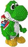 QSSQ Enfants Mini Blocks Super Mario Series, 3D Puzzle DIY Jouets Modèle Cadeaux Enfants Adultes,Yoshi