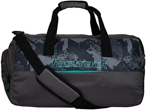 Polyester 27 9 cms Grey Travel Duffle A0718NGY01