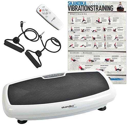 skandika Home Vibration Plate 600 Vibrationstrainer (in 3 Farben) (weiß)