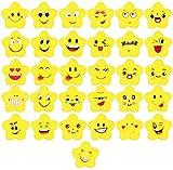 Koogel Lachgesicht Radiergummi, 100 Stücke Smiley Radierer Kinder Kleine Lustige Radiergummi Mitgebsel für Schüler Gastgeschenke Geburtstag Party