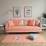 Funda Sofa,Cojín de algodón Rosa para sofá, Fundas para...