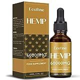 Ecofine Hanfsamenöl,Premium HEMP SEED OIL, rein natürliche Inhaltsstoffe 60ml (60000/60)