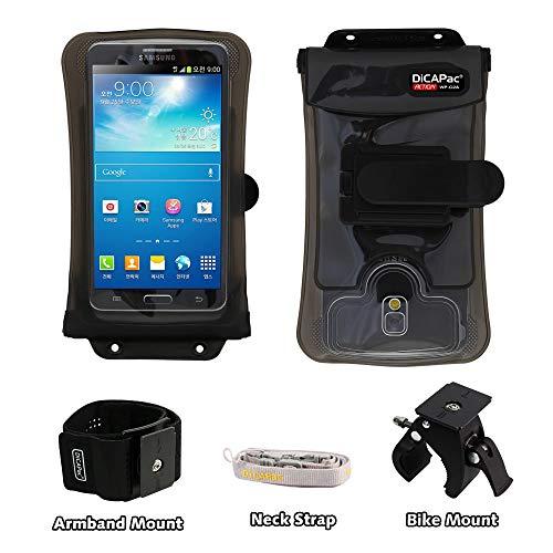 DiCAPac Action passend für Acer Liquid S1 / X1 / Z6 Plus Handys - Fahrrad & Motorrad Handyhalter/Lenkerhalterung + Handy-SportArmband - abnehmbare Handyhülle wasserdicht 10m IPX8