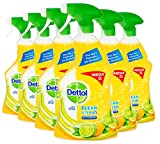 Dettol Power and Fresh Citrus Multi-Purpose Cleaner, 1 Litre, Pack <span class='highlight'>of</span> 6