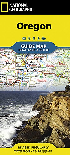 Oregon (National Geographic Guide Map)