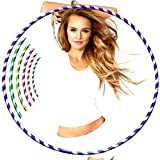 JD Linens Hula Hoop - Adults & Kids PVC Tube Lightweight Hoola Hoops Ring for Weight Loss - Ideal for Men, Women, Dancing, Workout, Fitness Gymnastics, Gym Exercise Equipment - Stripy Multi Colored