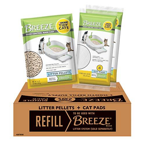 Purina Tidy Cats Cat Litter Box Accessories, BREEZE Refill Litter Pellets & Cat Pads Multi Cat Litter - 7.91 lb. Pouch