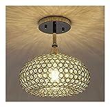 GPZ-iluminación de techo Lámpara de techo de cristal, lámpara empotrada, accesorio de lámpara de techo Instalación empotrada, lámpara de techo de cristal creativo Personalidad simple Sala de estar Com