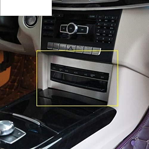 WYZXR Kompatibel mit Mercedes Benz W212 E-Klasse E200 E260 E300 2008-2015 Aluminium-Mittelsteuerung Klimaanlagenschalterabdeckung T.Felge Car-Styling