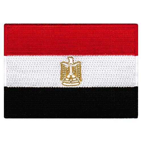 Egypt Flag Embroidered Patch Egyptian Iron-On Arab National Emblem