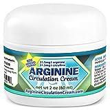 Arginine Circulation Cream - Menthol, L Arginine & L Citrulline Circulation Lotion - Improve Blood Circulation to Cold Hands and Feet - Supports Better Blood Flow to Swollen Feet & Legs (2 oz)