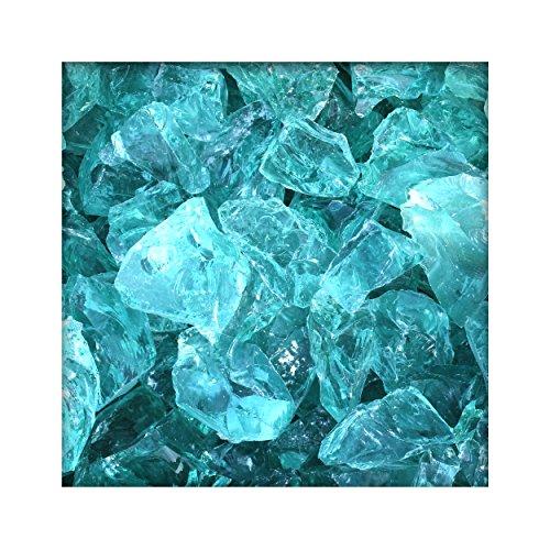 Kieskönig 20 kg Glasbrocken Glasbruch Glassteine Glas Gabione 60-120 mm Farbe Türkis