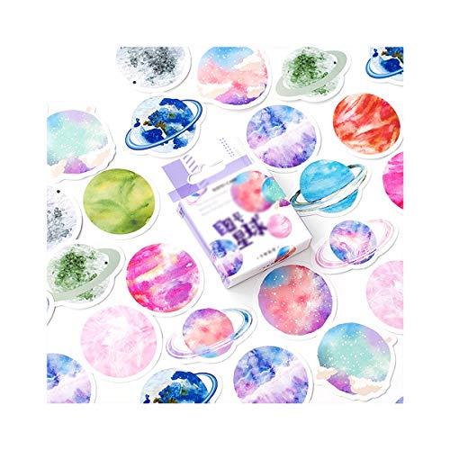 AIUIN 45x Ephemera Set Notizsticker im Stil von Das Hauch Grün Aufkleber Japan Mädchen/Junge Sticker für Kinder Deko Sticker Stempel Blätter (Style 3)