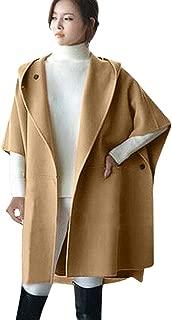 PIKAqiu33 Women Loose Batwing Wool Poncho Winter Warm Coat Jacket Cloak Cape Parka Outwear