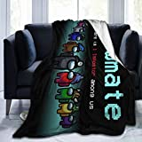 Flannel Blanket Micro Flannel Fleece Throw Blanket for All Season Couch Bed Sofa for Kids Teens Adults 60' x 50'inch - 03