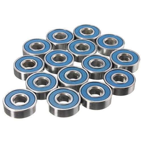 Leililia 20Pcs Skateboard Wheel Bearings Carbon Steel 608rs ABEC-9 Ball Bearing