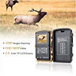 Campark Trail Wildlife Camera Trap 14MP 1080P Wild Hunting Cam Infrared Motion Activated Night Vision IP56 Waterproof