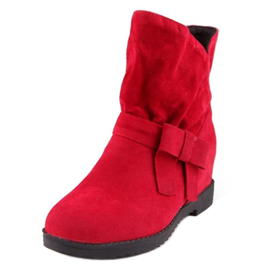 教える降臨プログレッシブ[FANIMILA] レディース カジュアル ショートブーツ リボン シークレット ブーツ