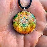 Lion Orgone Pendant | Orgonite Pendant | Shamanic Amulet | EMF protection | EMF Blocker | Tesla | Sacred Masculine| Atlan